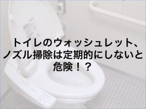 トイレのウォッシュレット、ノズル掃除は定期的にしないと危険!?