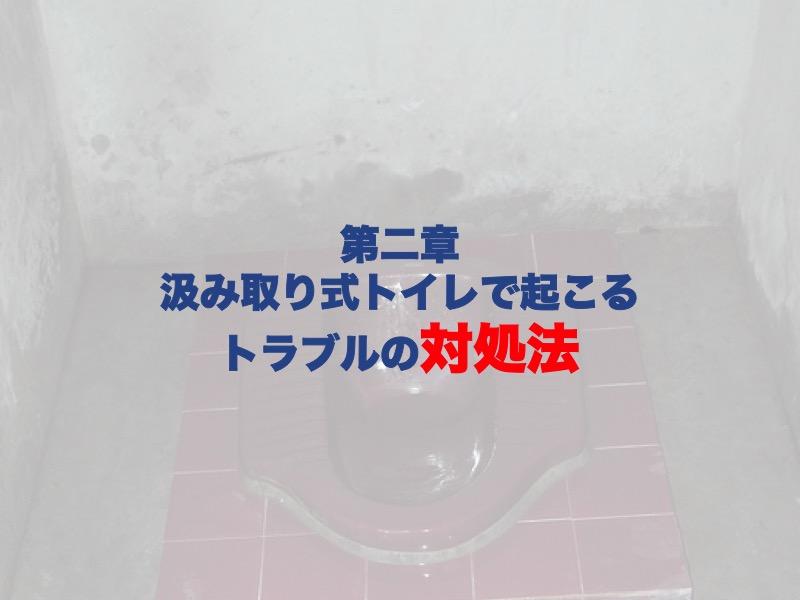 第二章:汲み取り式トイレで起こるトラブルの対処法