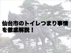 仙台市のトイレつまり事情を徹底解説!