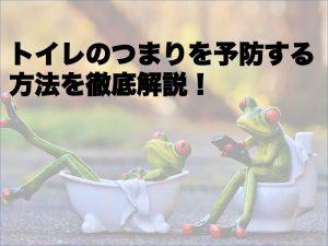 トイレのつまりを予防する方法を徹底解説!