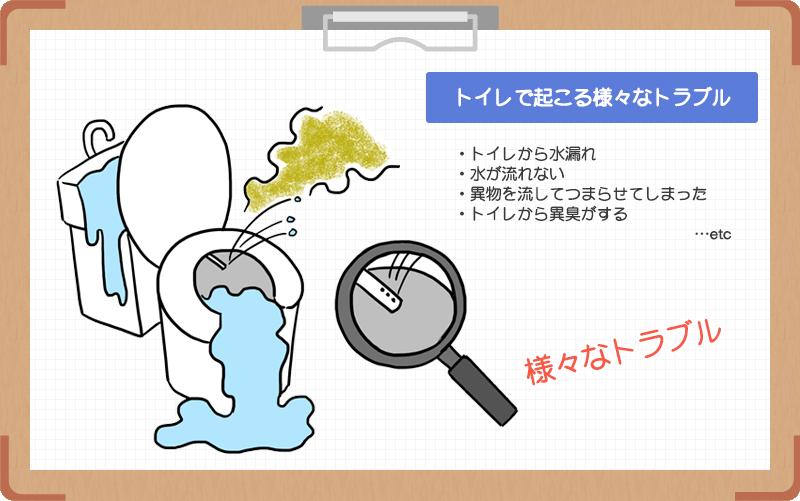 トイレのつまりや水漏れの8つの原因と直し方
