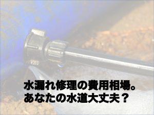 水漏れ修理の費用相場。あなたの水道大丈夫?