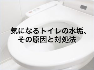 気になるトイレの水垢、その原因と対処法