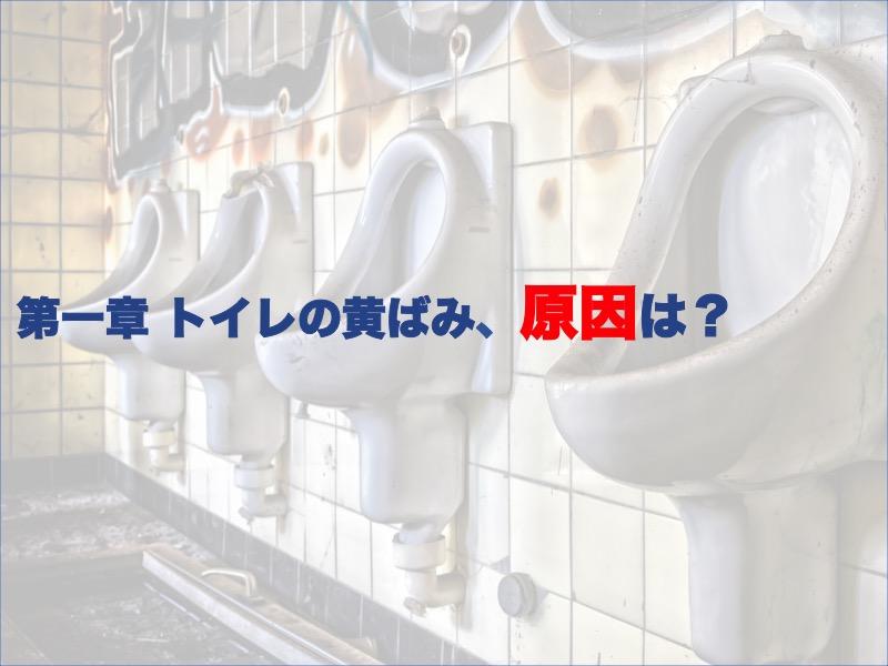 第一章:トイレの黄ばみ、原因は?