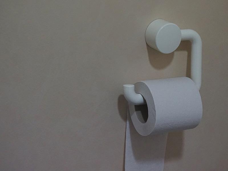 1・トイレのインテリア実例1:ペーパーホルダー