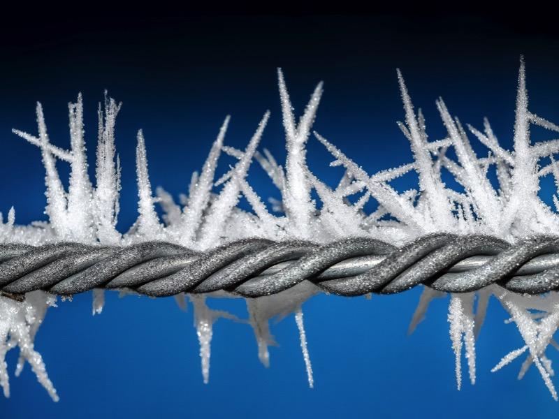 1・水道管は外気温マイナス4℃で凍結する