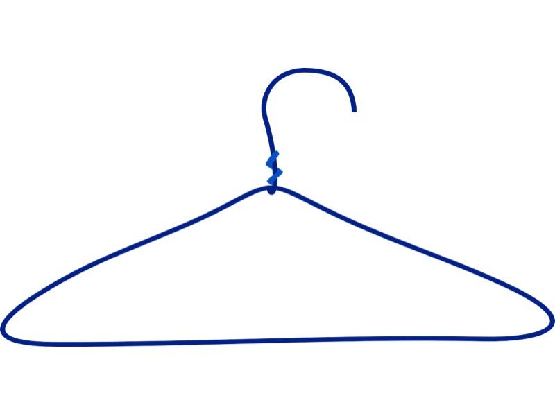 7・針金ハンガーで代用する