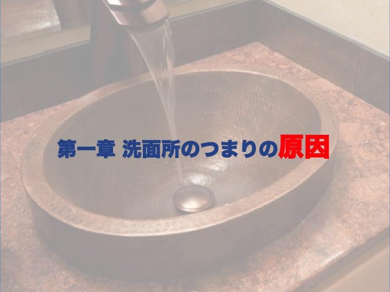 第一章:洗面所のつまりの原因