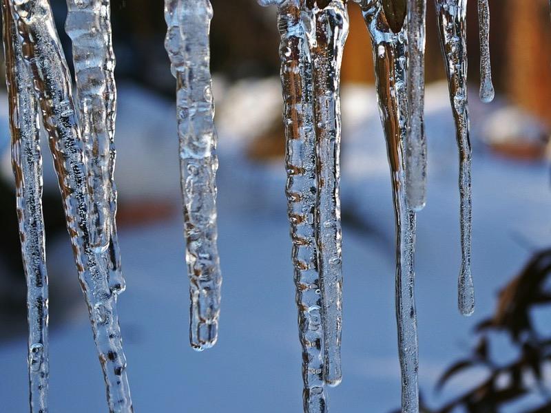 2・水道管が凍結していた