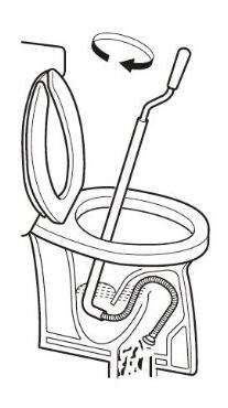 4.ワイヤー式トイレクリーナーでつまりを直す