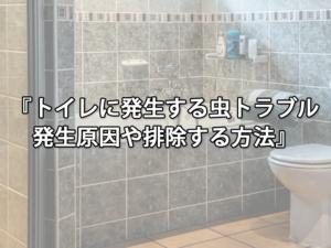 トイレに発生する虫トラブル発生原因や排除する方法