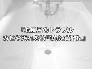 お風呂のトラブル、カビや汚れを徹底的に綺麗に