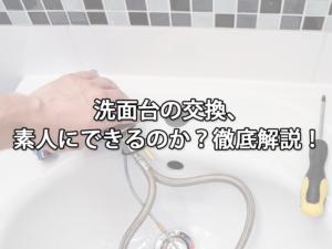 洗面台の交換、素人にできるのか?徹底解説!